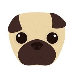 Cute dog face vector