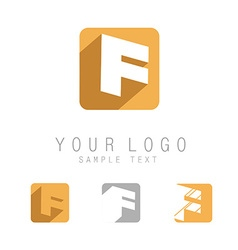 Flat letter F icon vector image vector image