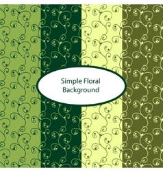 Green floral seamless background vector image vector image