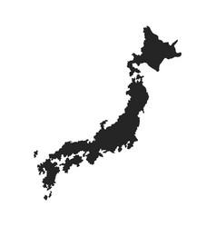 japanese map island tourims destination vector image