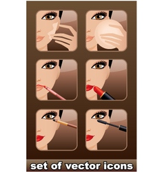 Makeup icons vector image vector image