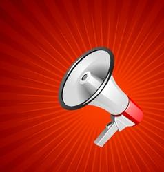 megaphone background vector image