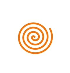 Simple orange spiral icon vector