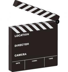 film clapper 3d open vector image vector image