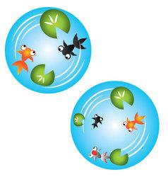 Fishponds vector image vector image