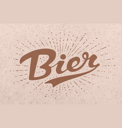 hand drawn lettering beer vector image vector image