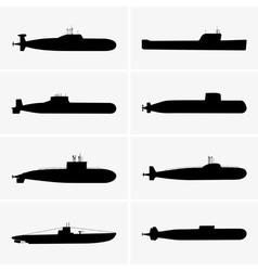 Submarines vector image
