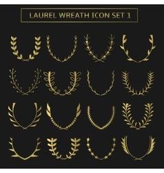 Wreath set vector image
