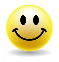 a happy smiley face button vector image