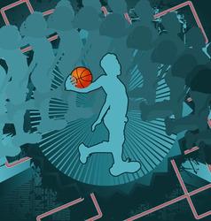 Basketball vintage design vector