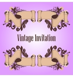 invitation and ribbon vector image vector image