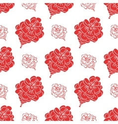 Seamless pattern with fir cones Cute decorative vector image vector image
