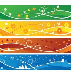 Seasons Banners vector image vector image