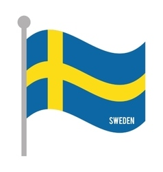 sweden patriotic flag isolated icon vector image vector image