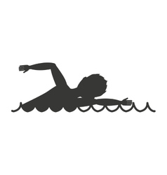 swimming race isolated icon design vector image