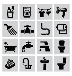 Bathroom icons vector