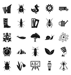 bedbug icons set simple style vector image vector image