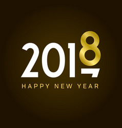 New-year-2018-gold-number-movement vector