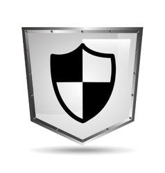 Protection security symbol shield steel icon vector