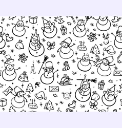 seamless pattern for christmas vector image