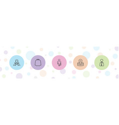 5 occupation icons vector