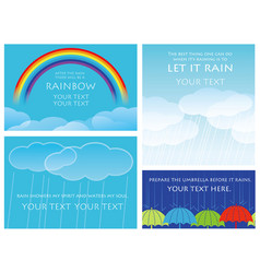 a set of four background vector image