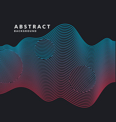 abstract background with dynamic waves vector image
