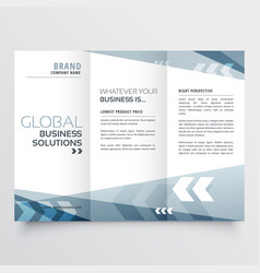 Abstract tri fold brochure design in geometric vector