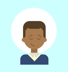 African american male emotion profile icon man vector