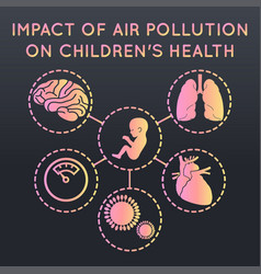 air pollution on childrens health logo icon vector image