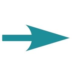 Arrow Axis X flat soft blue color icon vector