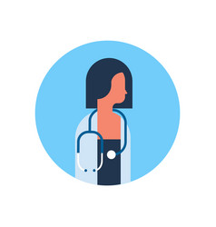 asian woman medical doctor stethoscope profile vector image