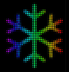 Bright dot snowflake icon vector