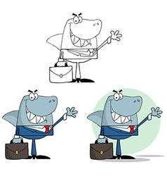 Cartoon shark design vector