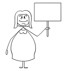 cartoon smiling obese or overweight woman vector image