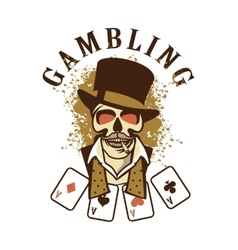 Casino retro logo on a white background vector image