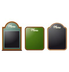 chalkboard menus vector image