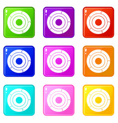 chart pie with arrows set 9 vector image