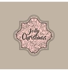 christmas vintage frame icon vector image