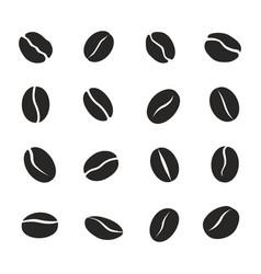 coffee bean icon set caffeine symbol vector image