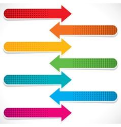 colorful arrow icon stock vector image