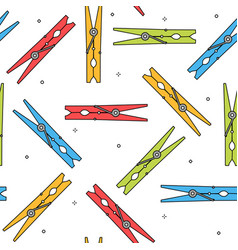 colorful clothes peg seamless pattern vector image