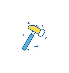 day hammer labor labour icon design vector image