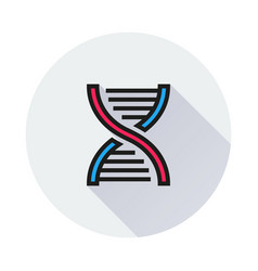 Dna icon on round background vector