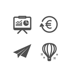 exchange currency paper plane and presentation vector image