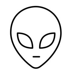 Face extraterrestrial alien simple monochrome vector