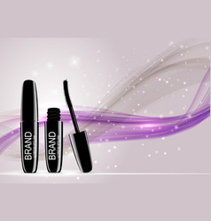 fashion design makeup cosmetics product templat vector image