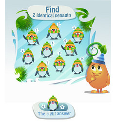 Find 2 identical penguin vector