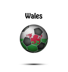flag of wales in the form of a soccer ball vector image