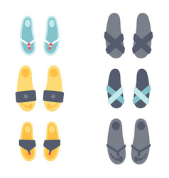 flip flops design graphic vector image